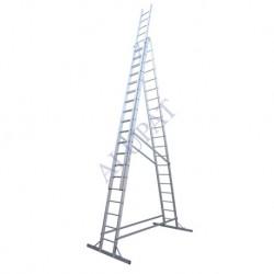 نردبان سه لنگه کشویی پله مربع