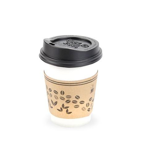 لیوان کاغذی درب دار نوشیدنی گرم