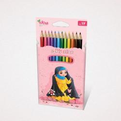 مداد رنگی 12 رنگ محصولات فرهنگی ریحانه