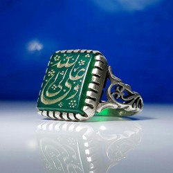 انگشتر نقره نگین سبز