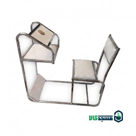 صندلی نماز  ارگونومیک پشتی دار چرمی (کد 1)