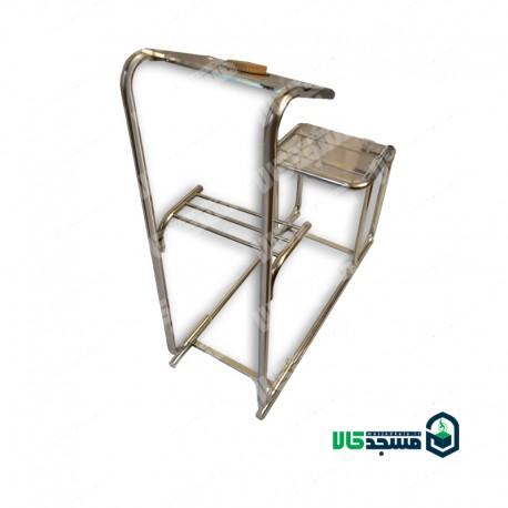 صندلی نماز ثابت (ارگونومیک استیل ثابت - طرح حرم)