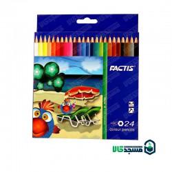 مداد رنگی 24 رنگ مقوایی فکتیس