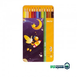 مداد رنگی 12 رنگ تخت فلزی فکتیس
