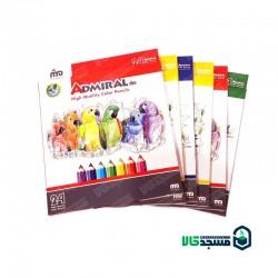 مداد رنگی 24 رنگ مقوایی ادمیرال