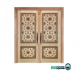 درب چوبی ورودی مسجد مدل T10