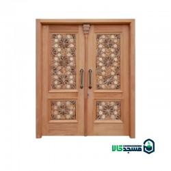 درب چوبی  ورودی مسجد مدل C10