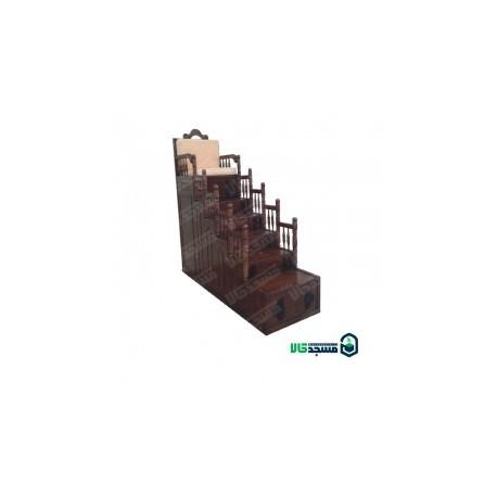 منبر چوبی پنج پله ای