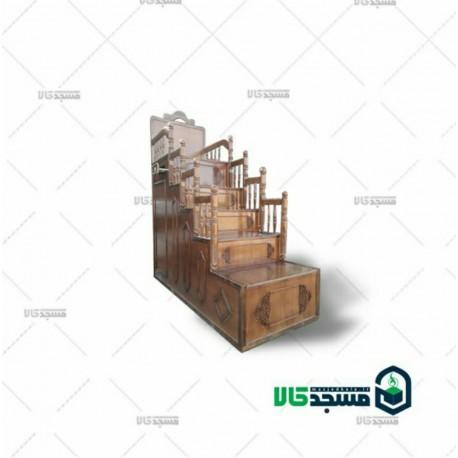 منبر چوبی مسجد -  منبر چهار پله ای
