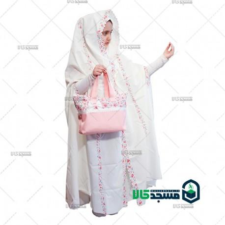 چادر نماز جشن عبادت طرح یاسمن
