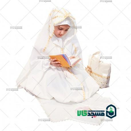 چادر نماز جشن تکلیف ( مدل خورشیدی)