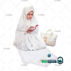 ست حجاب و چادر نماز جشن تکلیف نسیم