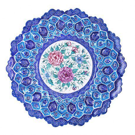 بشقاب میناکاری اصفهان هنر